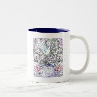 Selva tropical surrealista taza