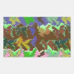 Selva verde salvaje rectangular pegatina