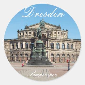 SEM by opera in Dresden Classic Round Sticker