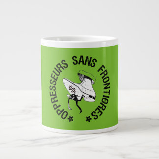SEM OPPRESSORS BORDER LARGE COFFEE MUG