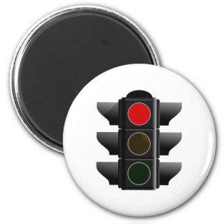 Semáforo traffic light rojo hablas iman de frigorífico