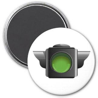 Semáforo verde para la gestión de la sala de clase imán redondo 7 cm