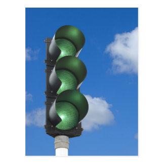 Semáforo verde - postal