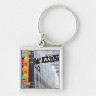 Semáforo y muestra de Wall Street Llavero Personalizado