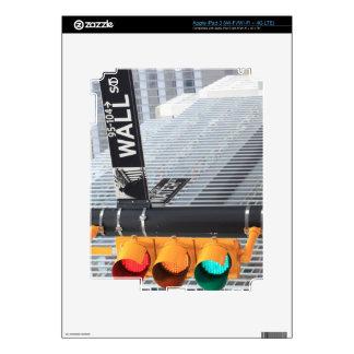 Semáforo y muestra de Wall Street Pegatina Skin Para iPad 3