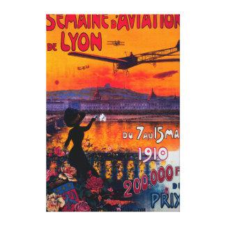Semaine d' Aviation De Lyon Vintage Poster Canvas Prints