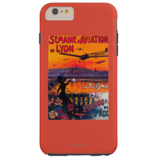Semaine d' Aviation De Lyon Vintage Poster Tough iPhone 6 Plus Case