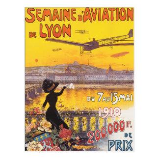 Semaine d'Aviation de Lyon Postcard