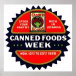 Semana de 1926 comidas conservadas poster