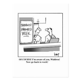 Semana de la conciencia del farmacéutico tarjeta postal