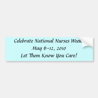 Semana de las enfermeras pegatina para auto