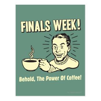 Semana de los finales: Behold el café del poder Tarjetas Postales