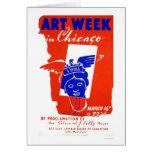 Semana del arte de Chicago WPA 1940 Tarjeta De Felicitación