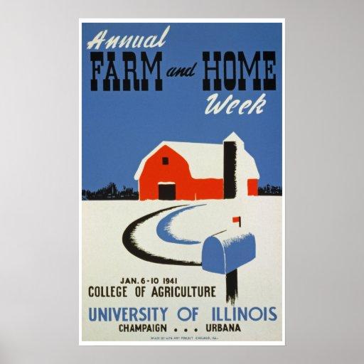 Semana del granja y casera posters