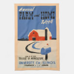 Semana del granja y casera toallas de mano