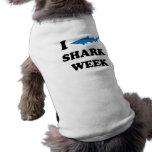 Semana del tiburón camisa de perrito