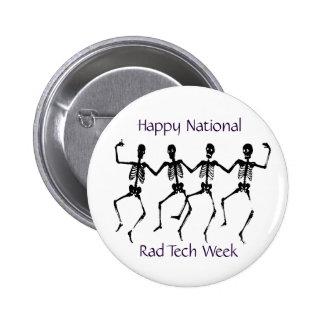 Semana feliz de la tecnología del Rad del nacional Pin Redondo De 2 Pulgadas