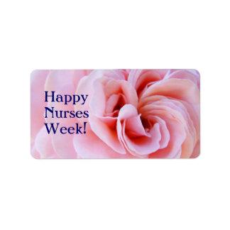 ¡Semana feliz de las enfermeras! el pegatina etiqu Etiqueta De Dirección