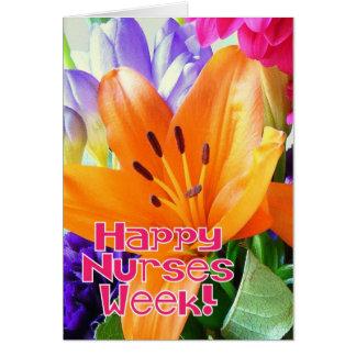 ¡Semana feliz de las enfermeras! - Flores Tarjeta De Felicitación