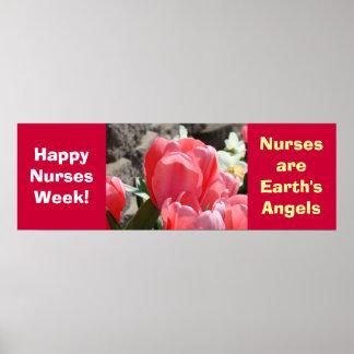 ¡Semana feliz de las enfermeras! los posters