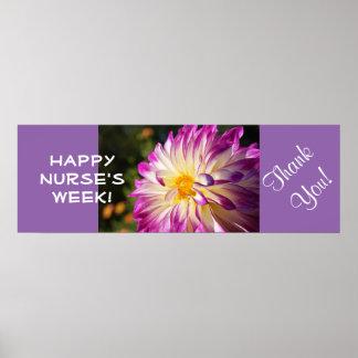 ¡Semana feliz de las enfermeras! los posters le