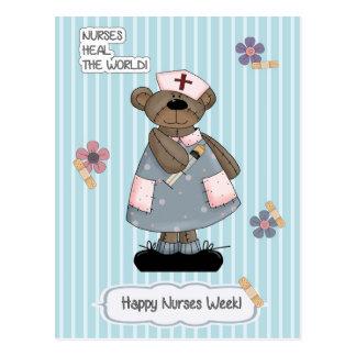 Semana feliz de las enfermeras. Postales adaptable