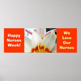 ¡Semana feliz de las enfermeras! poster amamos nue