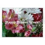 ¡Semana feliz de las enfermeras! - Ramo floral bon Tarjetas