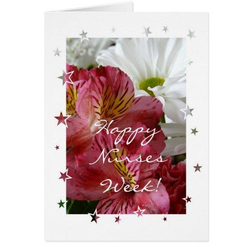 Semana feliz de las enfermeras tarjeta de felicitación