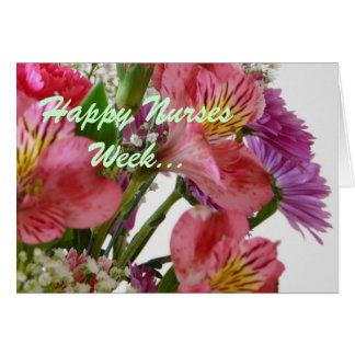 ¡Semana feliz de las enfermeras! Tarjeta De Felicitación