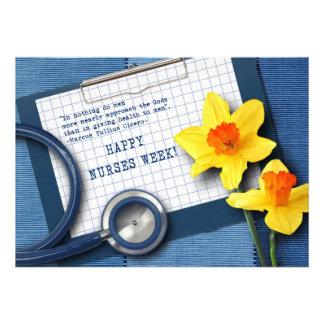 Semana feliz de las enfermeras Tarjetas de felici Comunicado Personal