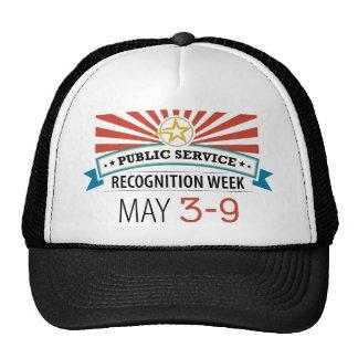 Semana feliz del reconocimiento del servicio públi gorro
