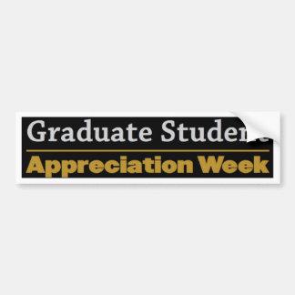 semana graduada del aprecio pegatina para auto