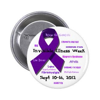 Semana invisible 2012 de la enfermedad pin redondo 5 cm