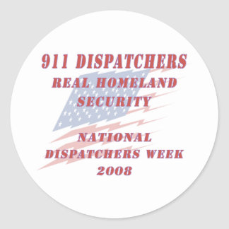 Semana nacional 2008 de los despachadores pegatina redonda