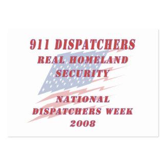 Semana nacional 2008 de los despachadores tarjetas de visita grandes