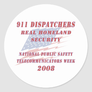 Semana nacional 2008 de Telecommunicators Pegatina Redonda