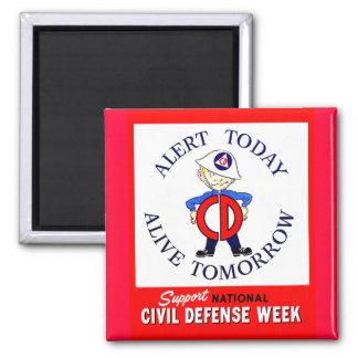 Semana nacional de la defensa civil imán cuadrado