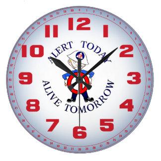 Semana nacional de la defensa civil reloj