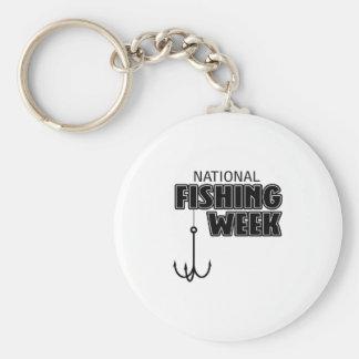 Semana nacional de la pesca llavero redondo tipo pin
