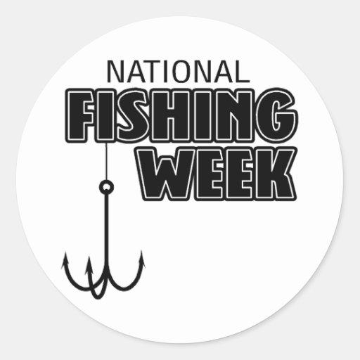 Semana nacional de la pesca pegatina redonda