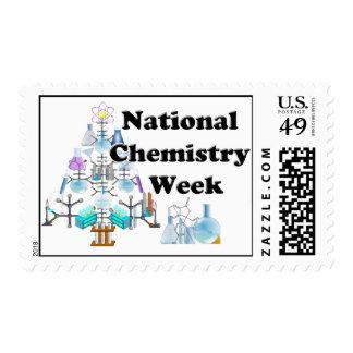 Semana nacional de la química (árbol del químico) estampillas