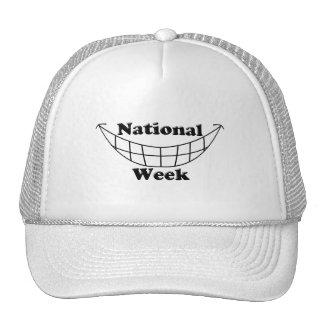 Semana nacional de la sonrisa gorras de camionero