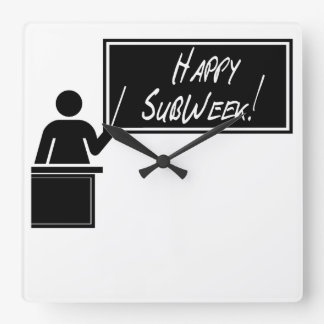 Semana nacional del aprecio de SubTeacher - SubWee Reloj