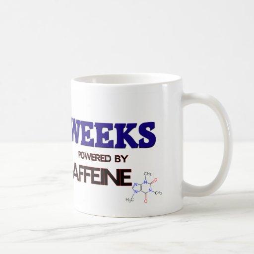 Semanas accionadas por el cafeína taza