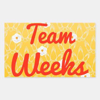 Semanas del equipo pegatina