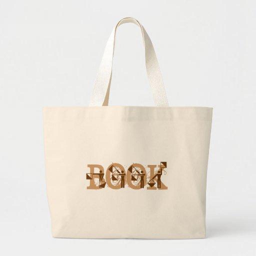 "semaphore flag "" BOOK "" Jumbo Tote Bag"
