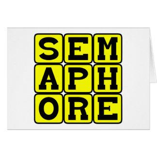 Semaphore, Mode of Wordless Communication Card