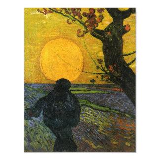 """Sembrador de Van Gogh con las invitaciones del sol Invitación 4.25"""" X 5.5"""""""