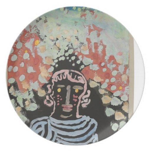 Semejanza de Paul Klee- en la glorieta Plato De Comida